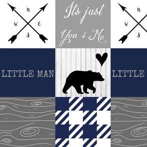 Its just you and me - little man - navy and gray