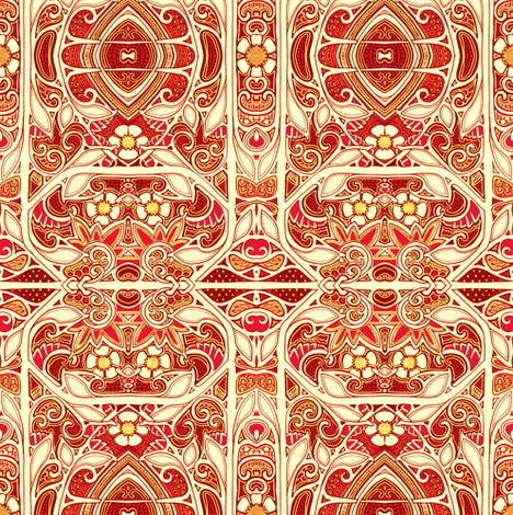 Hot and Fancy  fabric by edsel2084 on Spoonflower - custom fabric