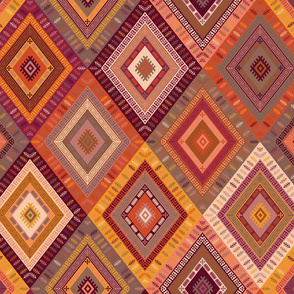 Kilim Diamonds - Apricot