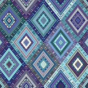 Kilim Diamonds - blues