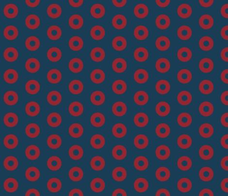 "Fishman Donuts - 2"" block repeat fabric by moonandsundries on Spoonflower - custom fabric"