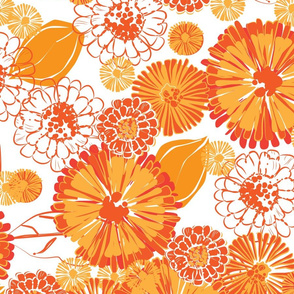 Orange Marigold Medlay