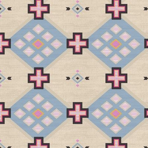 kilim cross and diamond