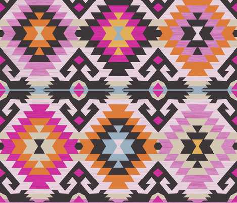 kilim diamonds fabric by ghouk on Spoonflower - custom fabric