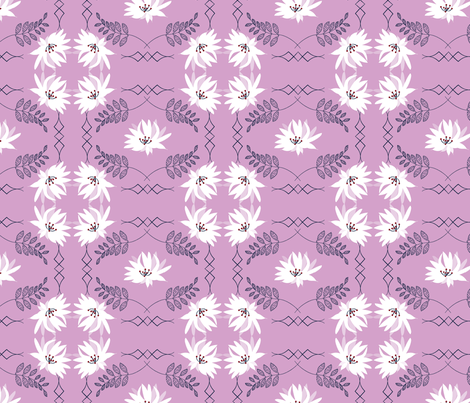 Serenity Blush, Orchid Navy Limited Color Palette fabric by applebutterpattycake on Spoonflower - custom fabric