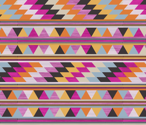 kilim stripe fabric by ghouk on Spoonflower - custom fabric