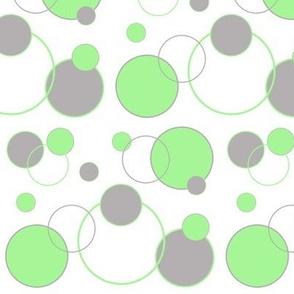 Circle Geometric Mint Green Gray Grey