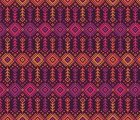 Kilim Sunset fabric by robyriker on Spoonflower - custom fabric