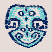 Seafoam Monstera kilim N1 (Pantone Almost Mauve)