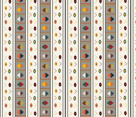 Striped Kilim for Spoon Flower Kilim 01.18 fabric by designbirds on Spoonflower - custom fabric