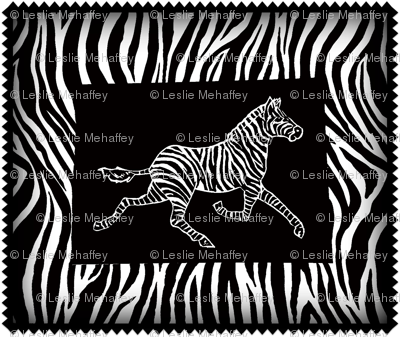 zebra on black and zebra background