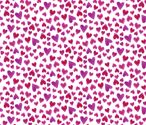 Valentines Day Love Hearts on White fabric by roguerenpnw on Spoonflower - custom fabric