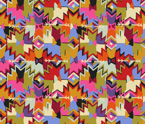Kilim With Kindness fabric by rhihare on Spoonflower - custom fabric