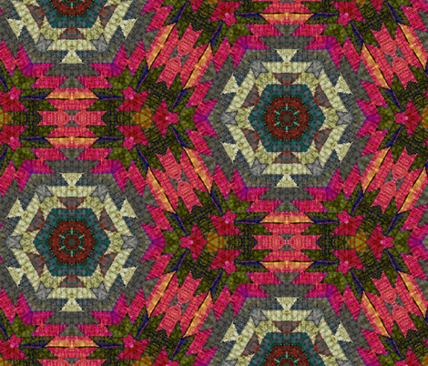 Kilim fabric by fanciful_whimsy on Spoonflower - custom fabric