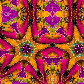Cat Batik Kaleidoscope