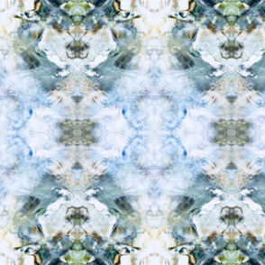 Periwinkle and blue-green damask