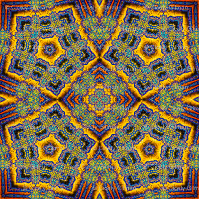 Blue Goddesses Kaleidoscope 2