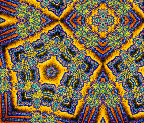 Blue Goddesses Kaleidoscope 2 fabric by ciswee on Spoonflower - custom fabric