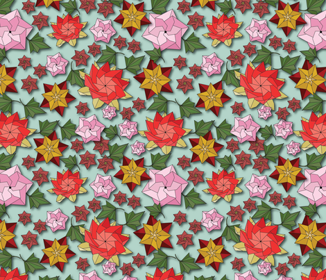 FloralOrigami fabric by cathleenbronsky on Spoonflower - custom fabric