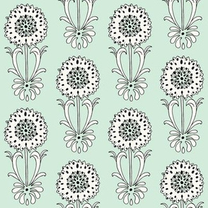 Dotted Floral_mint