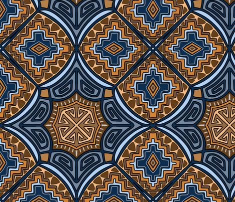 Inpired by Kilim Patterns fabric by martaharvey on Spoonflower - custom fabric