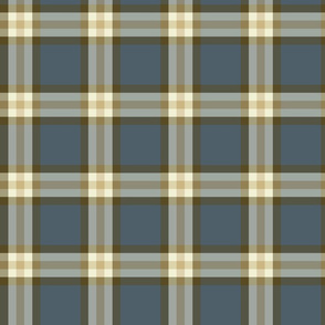 Gray Blue & Taupe Plaid Small Format