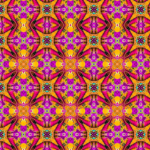 Kitty Batik Kaleidoscope