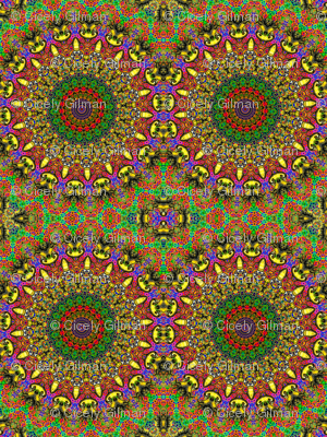 Kitty Klimt Kaleidoscope