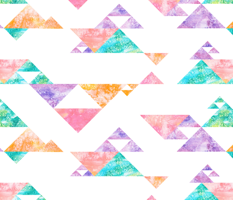 Sunrise Watercolor Kilim fabric by bexdsgn on Spoonflower - custom fabric