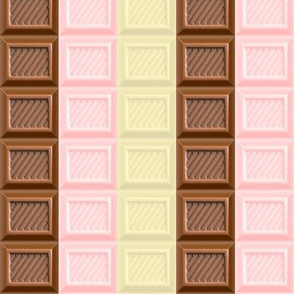 1 chocolate bar milk strawberry white brown pastel pink desserts candy sweets food kawaii cute egl elegant gothic lolita candies mixed flavors stripes