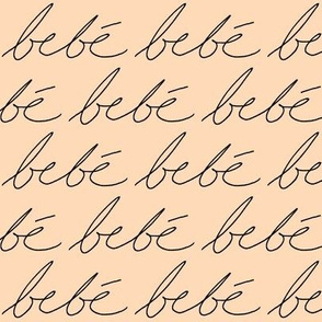 'Bebe' on Peach // Small