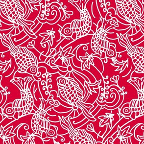 Koi Fish Chinese Red