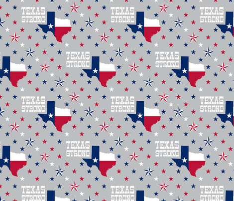 Texas Strong fabric by robyriker on Spoonflower - custom fabric