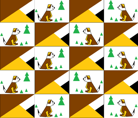 Origami Dogs fabric by b2b on Spoonflower - custom fabric