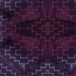 Dark purple kilim