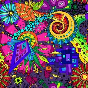 Hippie Universe Doodle