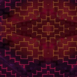 Dark red kilim