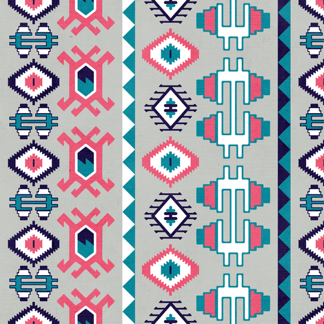 Contemporary-Kilim fabric by linziloop on Spoonflower - custom fabric