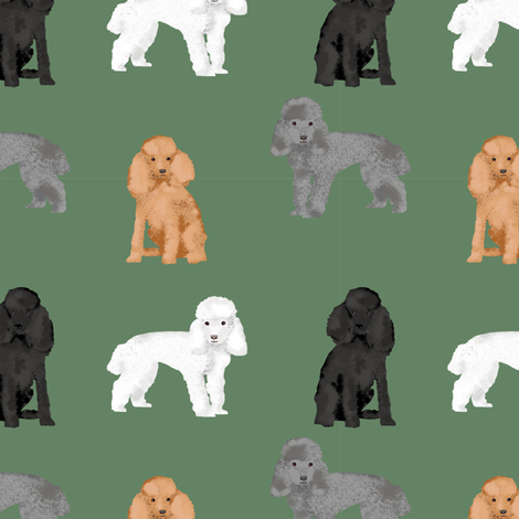 toy poodle mixed simple dog breed fabric green fabric by petfriendly on Spoonflower - custom fabric