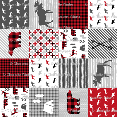buffalo plaid cheater quilt buffalo quilt moose bear cabin camping buffalo check stripes