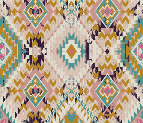 Ancient City Loom fabric by melaniegowprint on Spoonflower - custom fabric