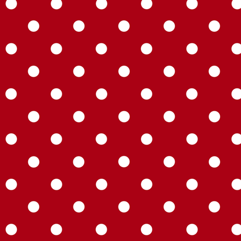 Small White Polka Dots on Dark Red fabric by mtothefifthpower on Spoonflower - custom fabric