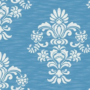Damask Texture Blue
