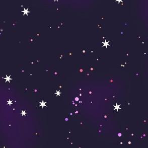 starry purple sky