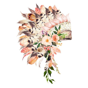 "2 to 1 yard /  28"" illustration Peach Headdress"