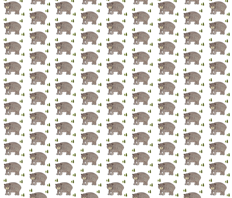 Friendly Baby Bear 3_2 fabric by lullaby_angels on Spoonflower - custom fabric