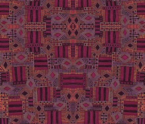 Turkish Rug Inspired fabric by dunnspun on Spoonflower - custom fabric