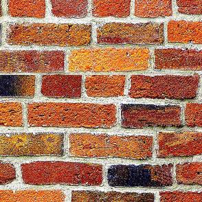 Old Brick Wall -biggest . Amber