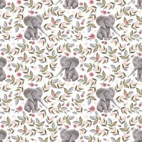 "3"" Baby Elephant with Flowers/ NO CROWN  / Mix & Match"