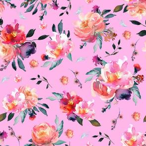 spring floral pink